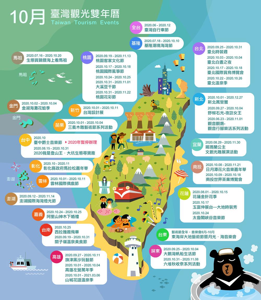10月精彩活動盡在臺灣觀光雙年曆