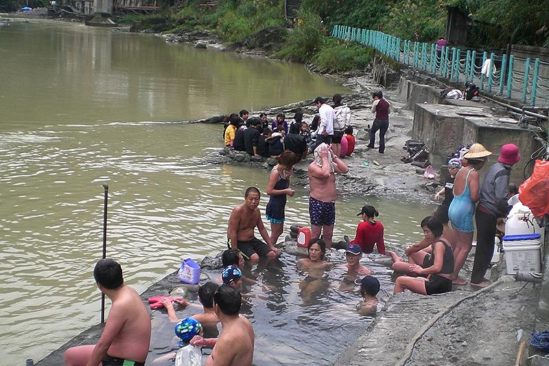 """baño relajante en algunos de los """"Hot Springs"""""""