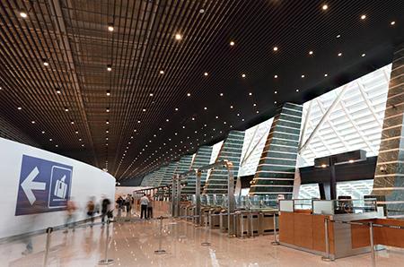 Sala principal de la terminal 1 del Aeropuerto Internacional de Taoyuan