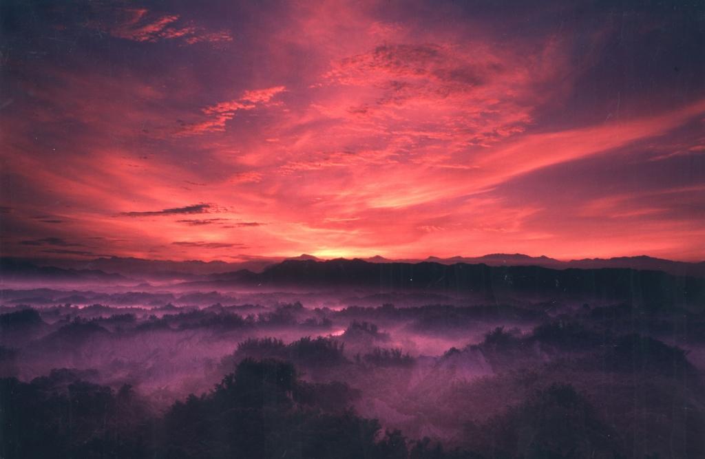 草山月世界的日落
