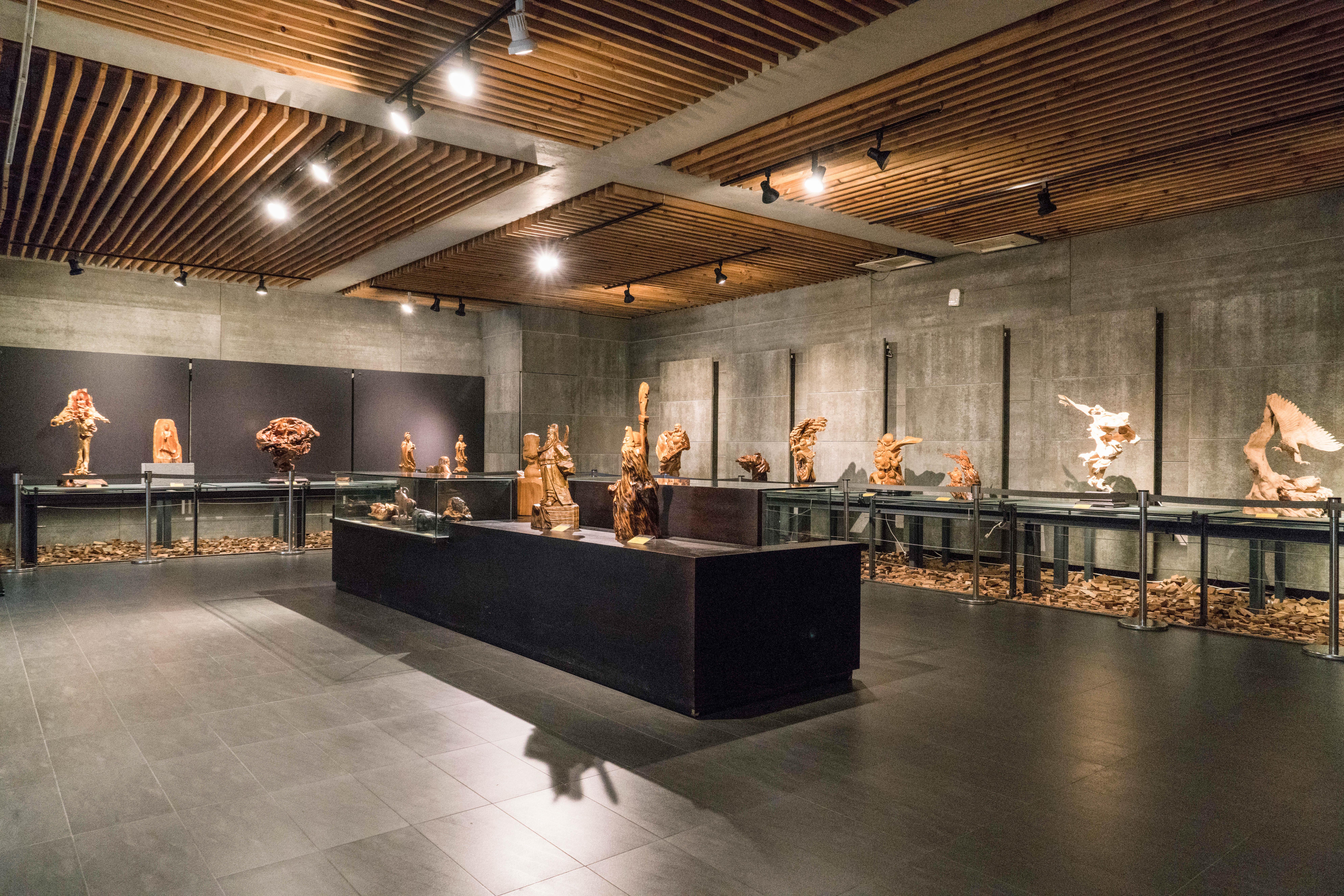 三義木雕博物館內展示空間