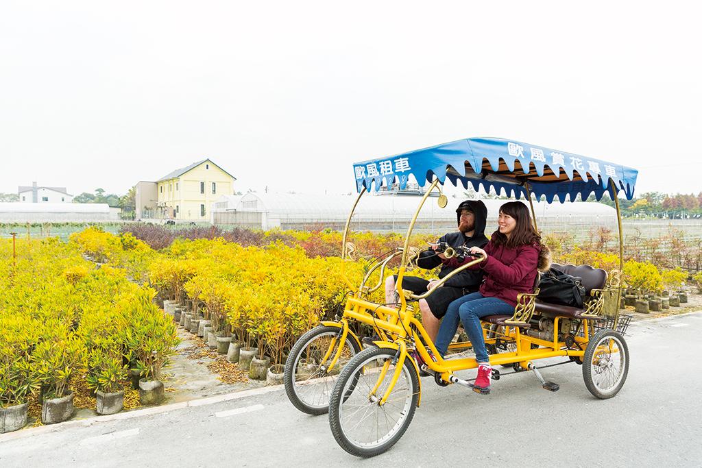 田尾公路花園騎自行車