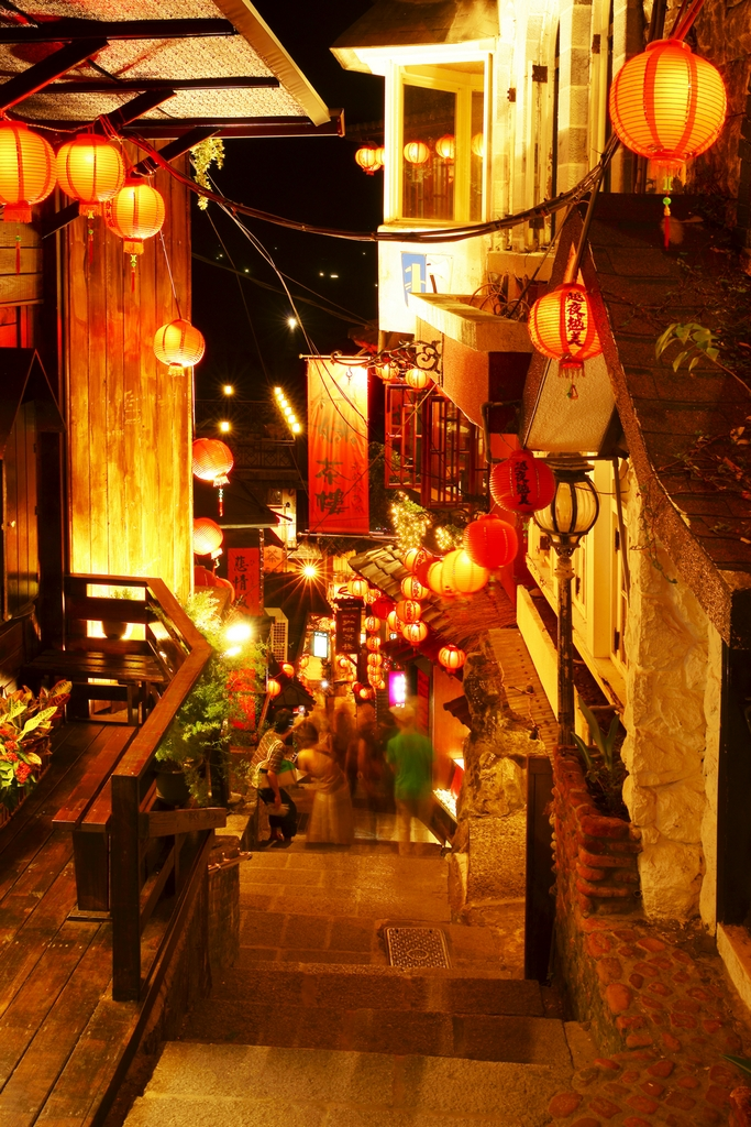 Night view of Jiufen Old Street
