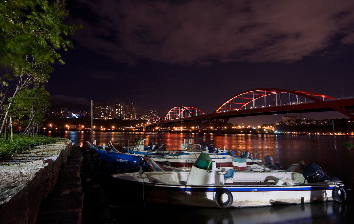 關渡碼頭夜景