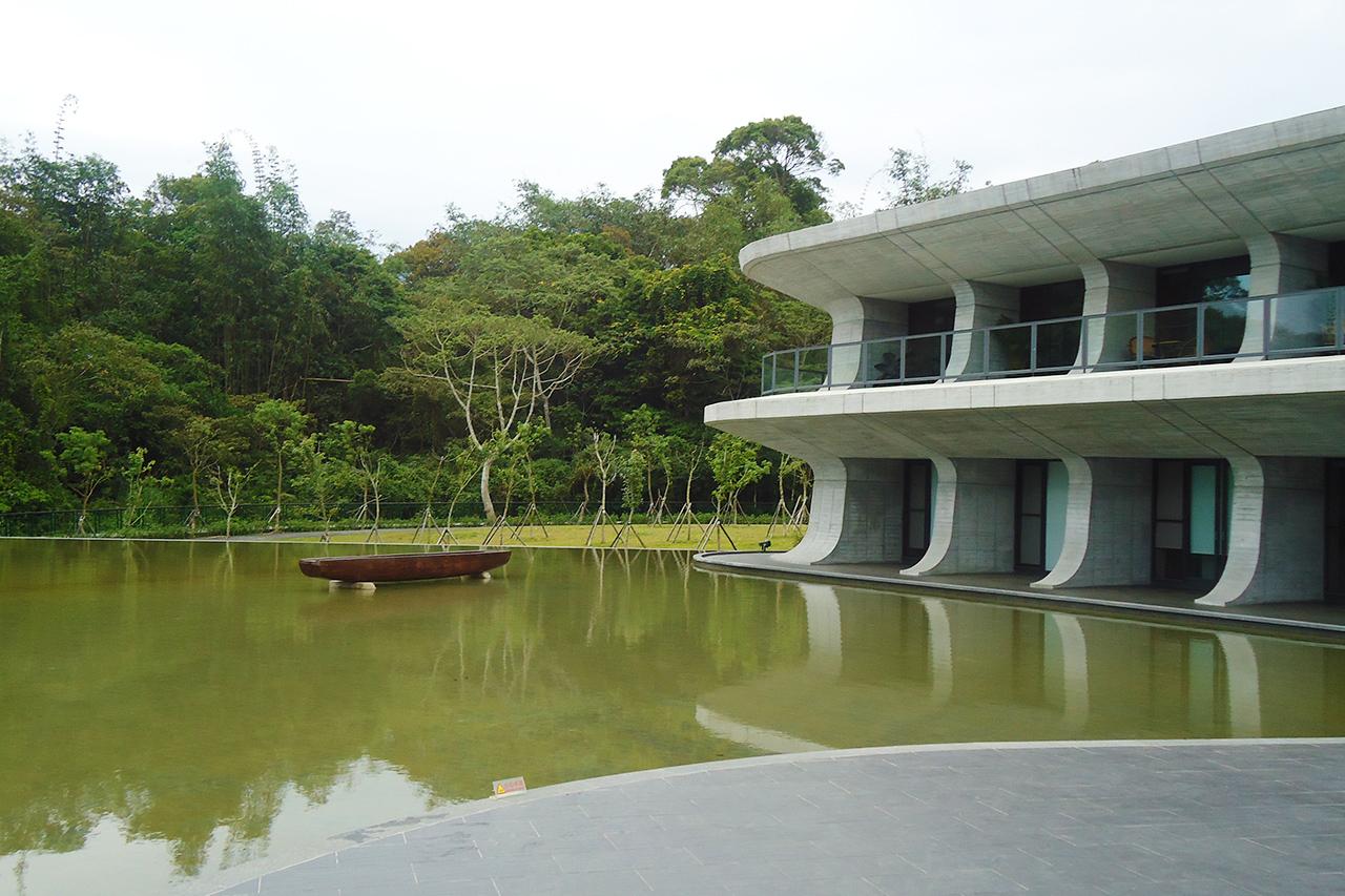 向山遊客中心水池