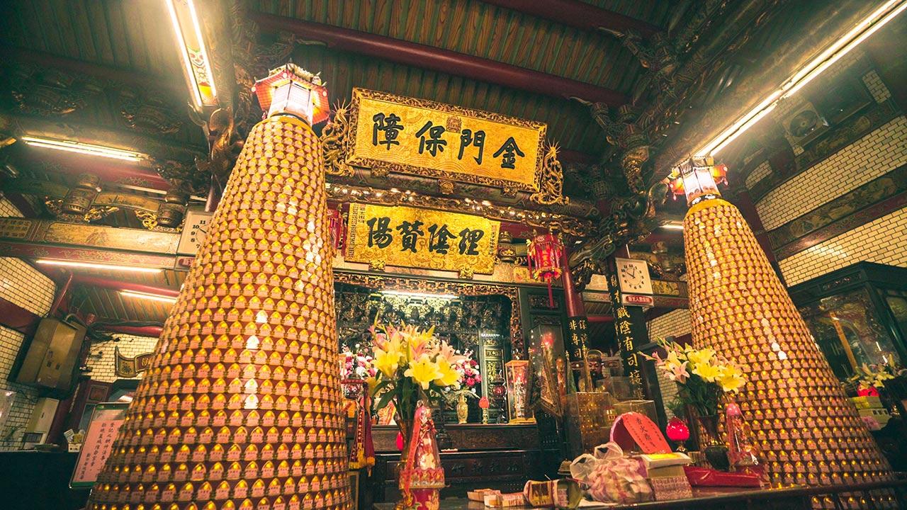 新竹都城隍廟內部