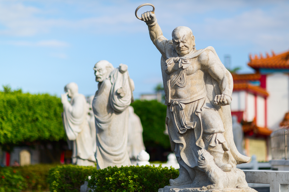 Statues in the Zhongzheng (Jhongjheng) Park