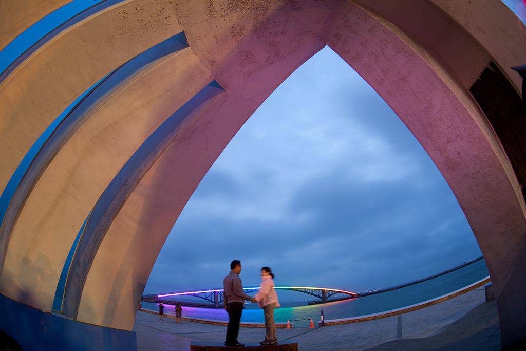 澎湖獅子紀念亭夜景