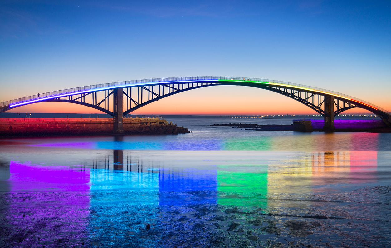 觀音亭--西瀛虹橋夜景
