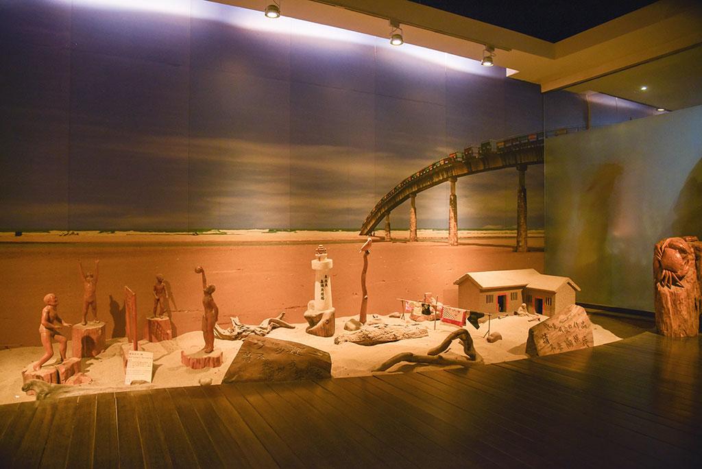 福隆遊客中心木雕展示館