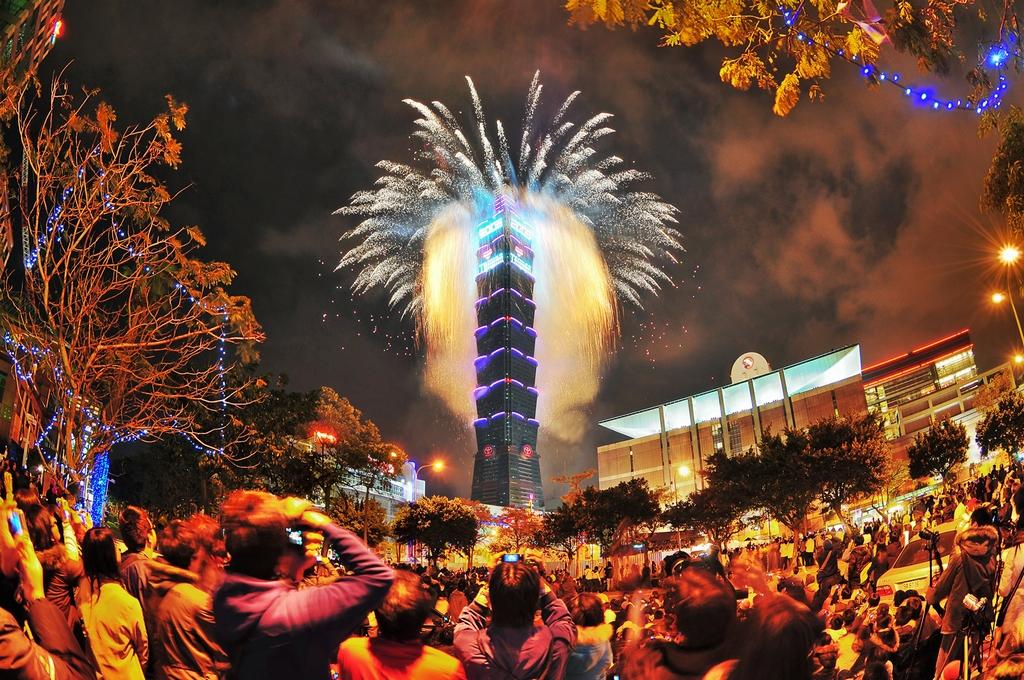 台北101煙火