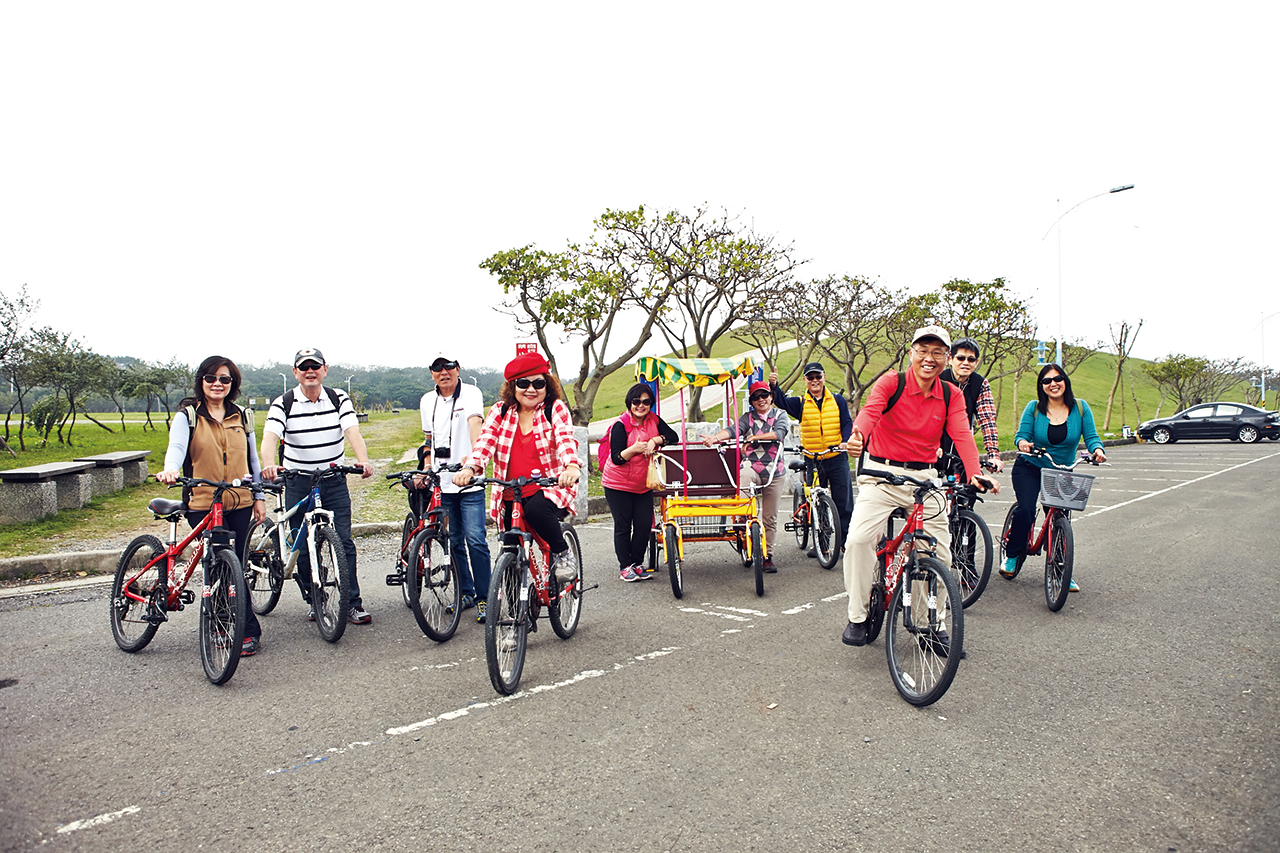 Biking along the Bali Left Bank