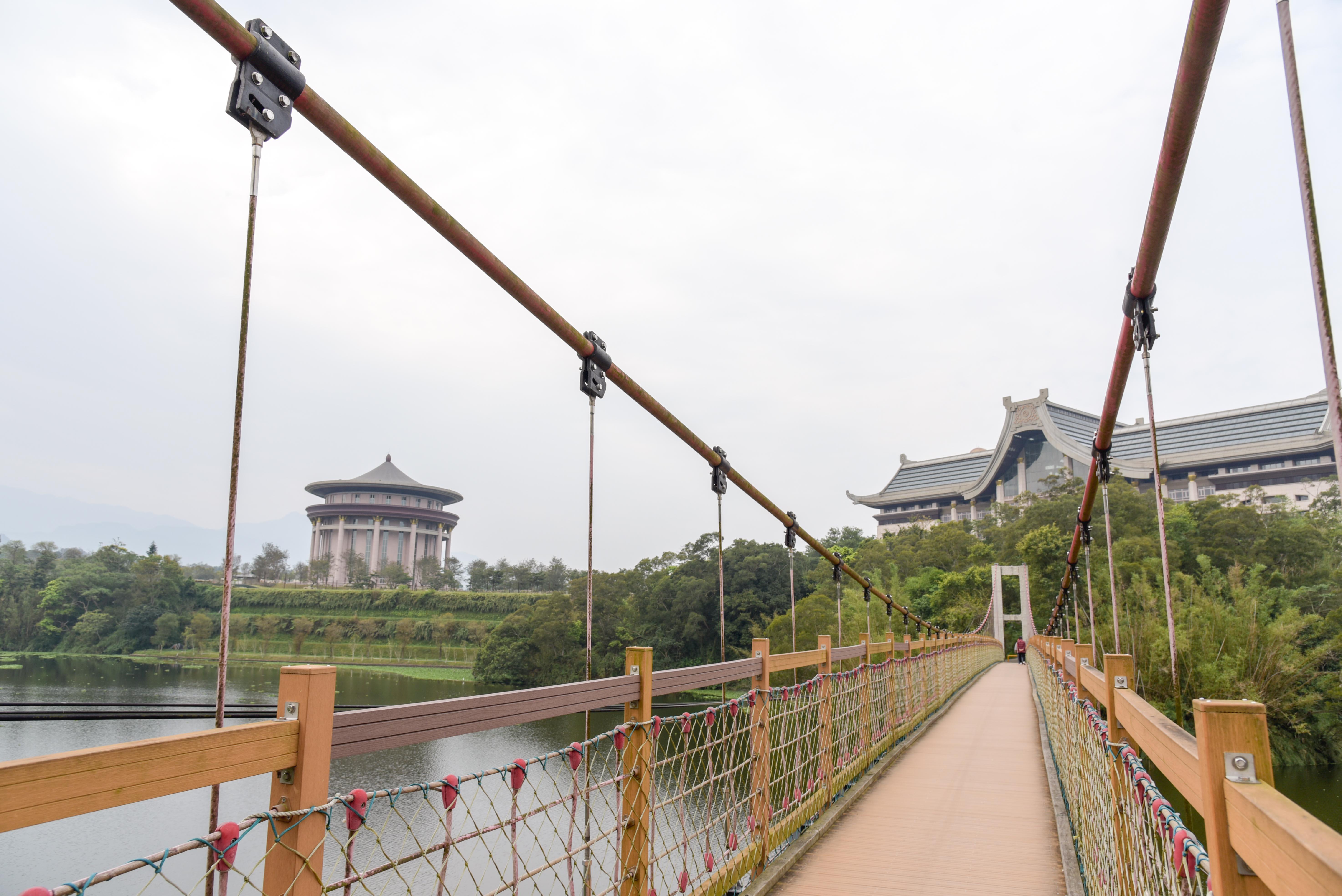 峨眉湖細茅埔吊橋