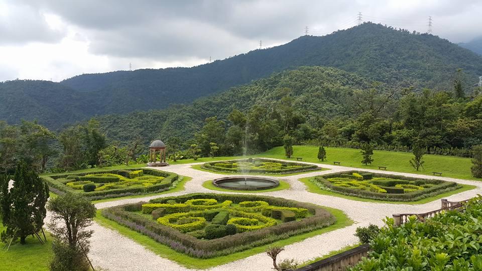 法蘭西庭園(法式庭園植物展示區)俯瞰圖