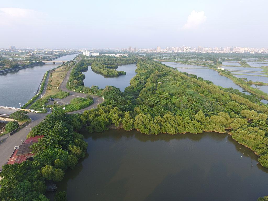 援中港濕地西區鳥瞰圖