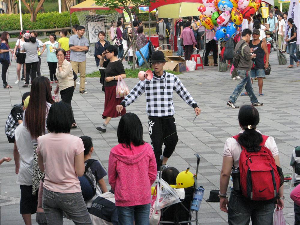 花博公園街頭藝人表演