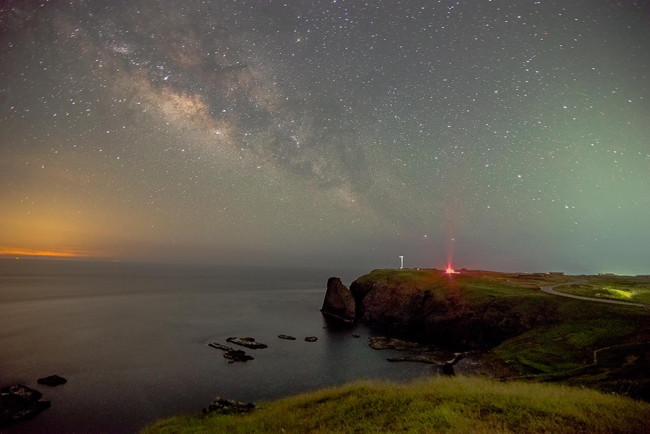繁星下的七美嶼燈塔