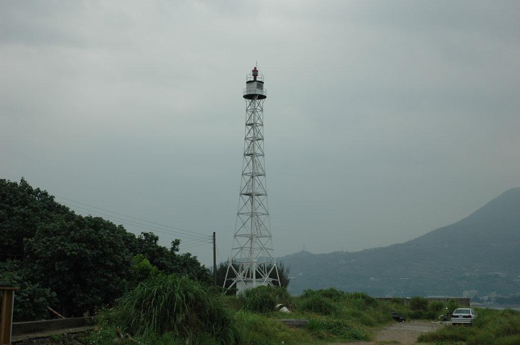 淡水港燈塔風景