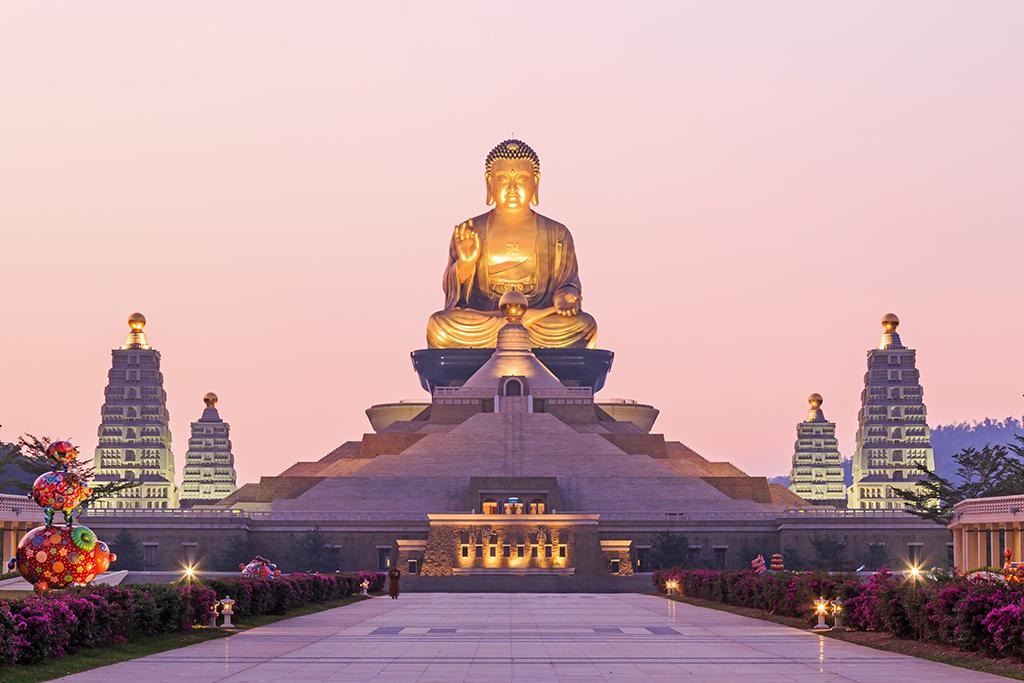 佛光山佛陀紀念館夜景