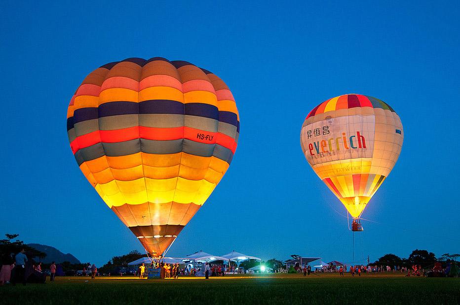 鹿野觀光茶園 熱氣球