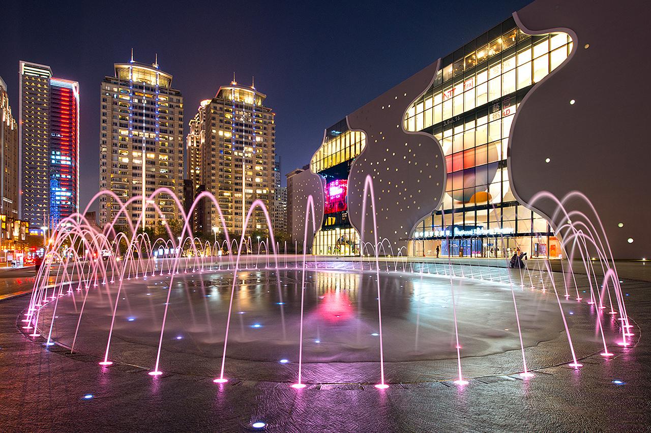 臺中國家歌劇院噴水池
