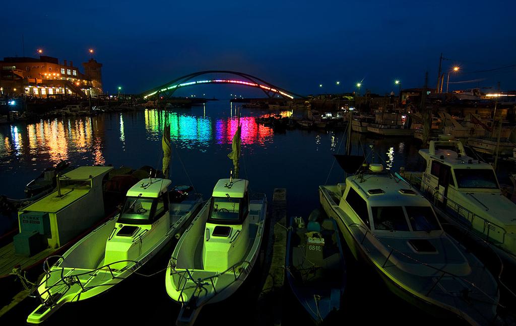 永安漁港夜景