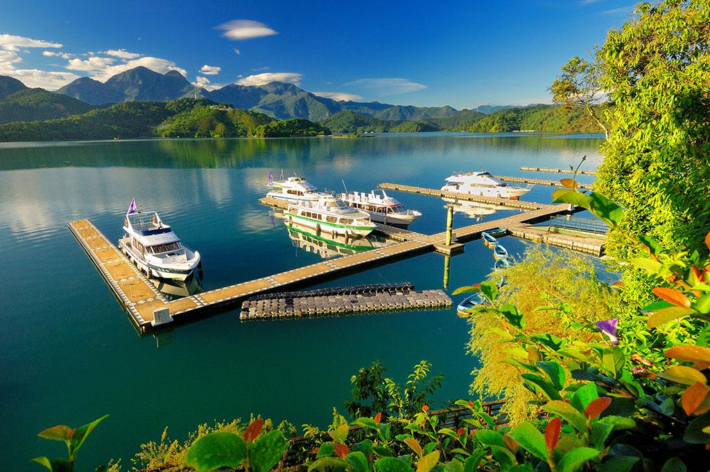 水社碼頭美景