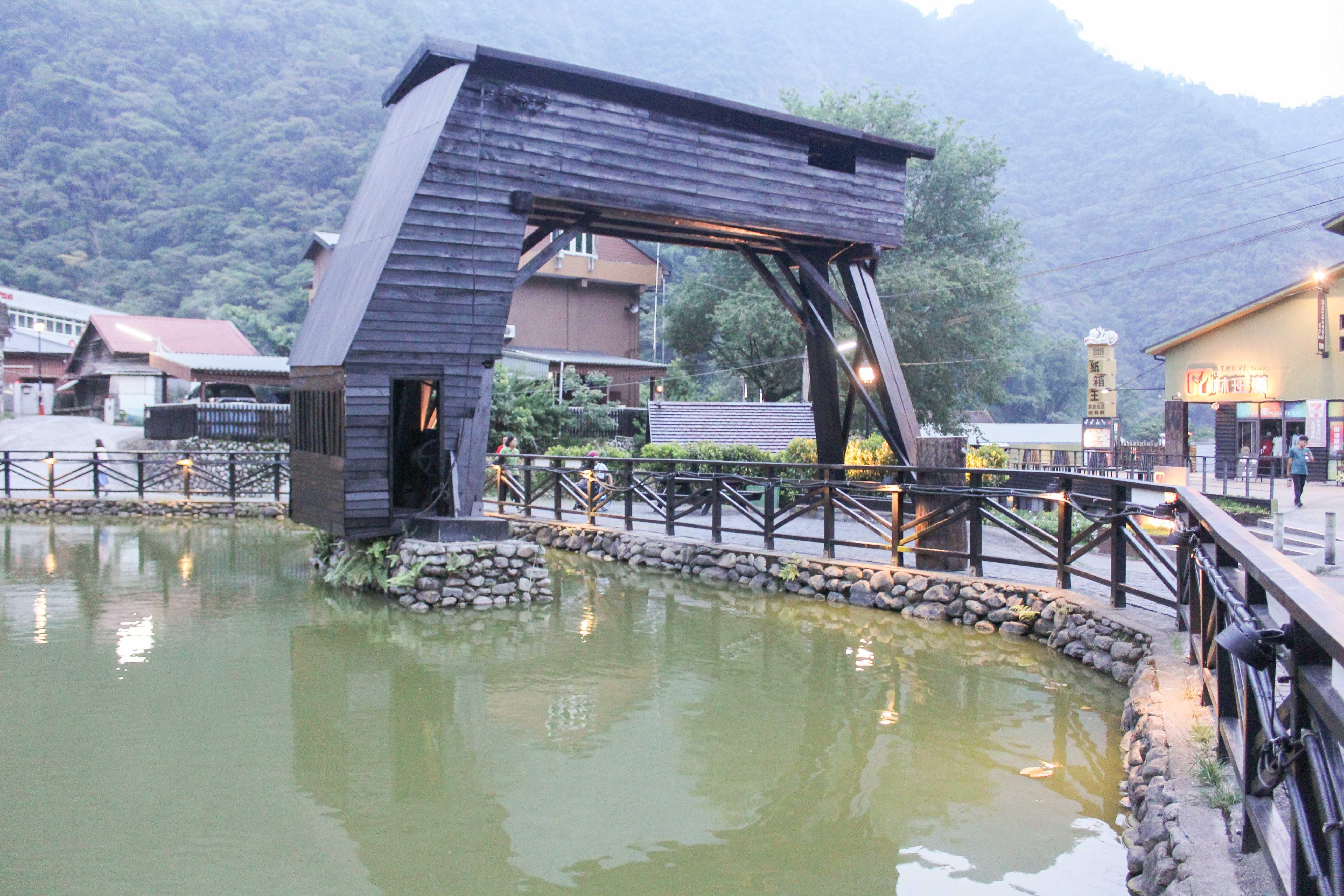 貯木池天車