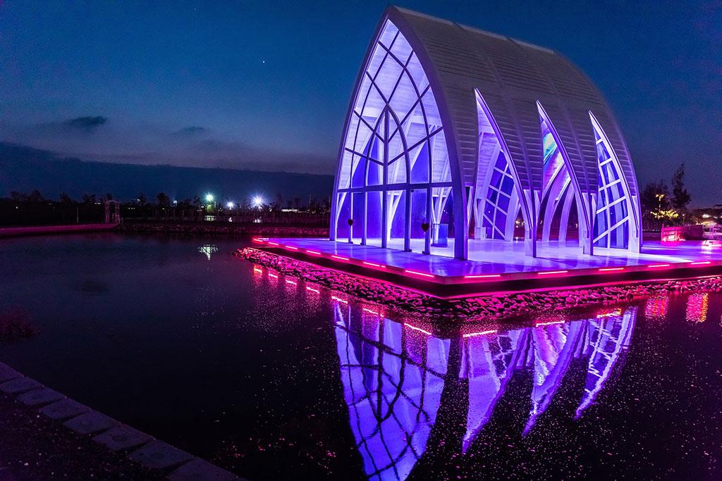 水晶教堂燈光秀
