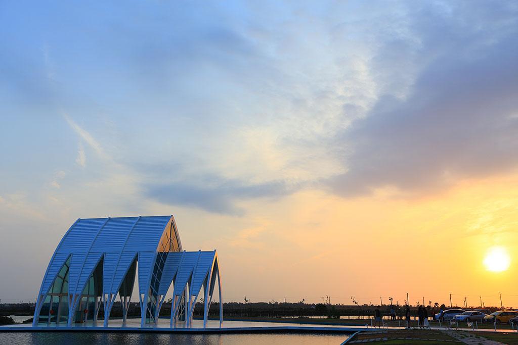 水晶教堂夕陽