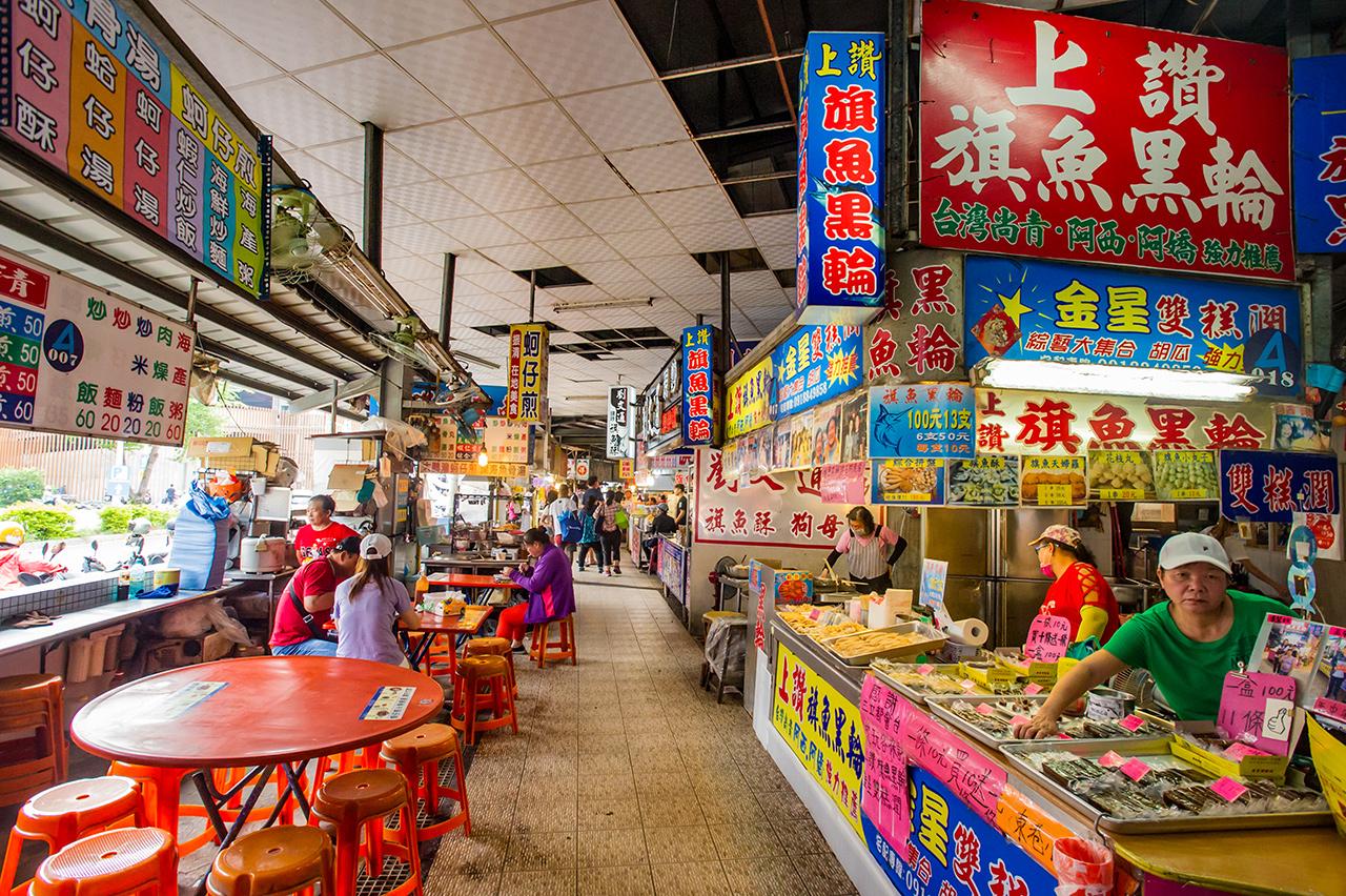 東港漁港漁產品直銷中心內部