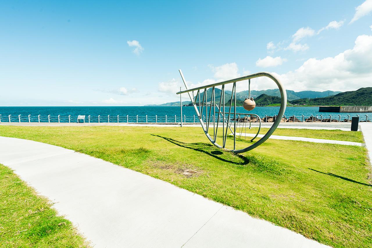 潮境公園魚群雕塑