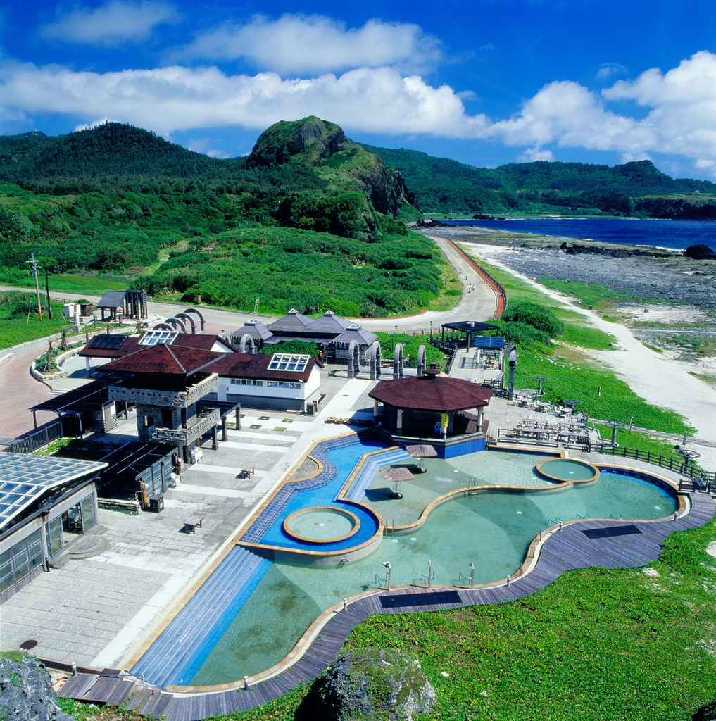 Overlooking of Zhaori Saltwater Hot Springs