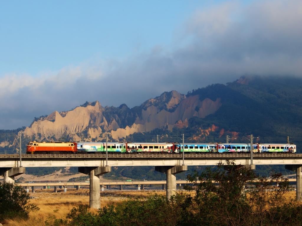 Huoyanshan (Huoyan Mountain)  & railway