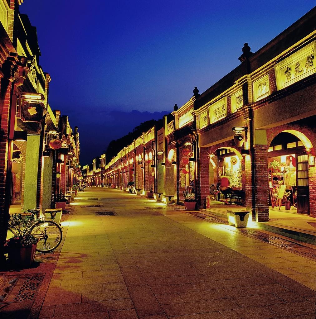 三峽老街夜景