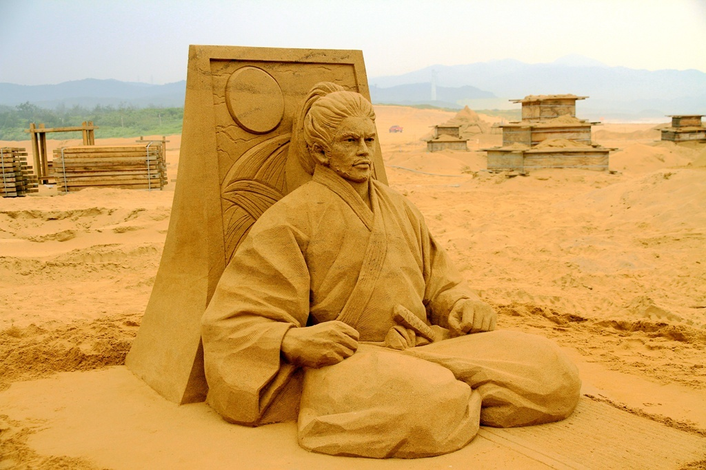 2017國際賽第1名-日本的沙雕師保坂俊彥作品「宮本武藏」榮獲第1名及金鏟獎