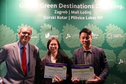 Dos lugares escénicos nacionales, la costa del noreste de Taiwán y el Lago del Sol y la Luna, ganaron un puesto entre los 100 mejores destinos turísticos ecológicos mundiales de 2019