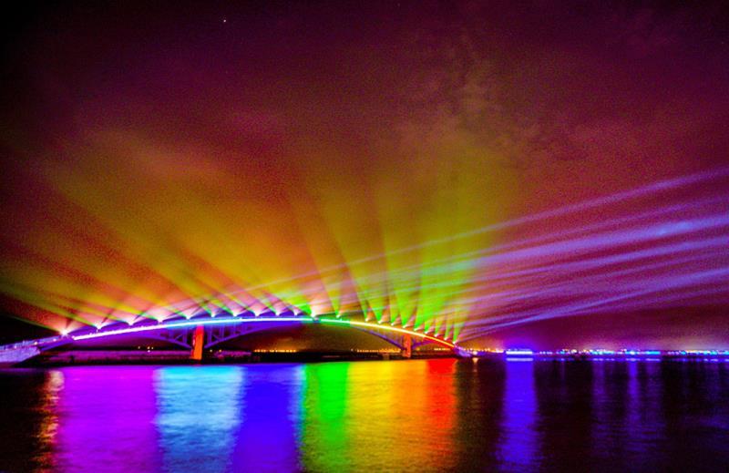 2019澎湖國際海灣燈光節「光映虹橋」