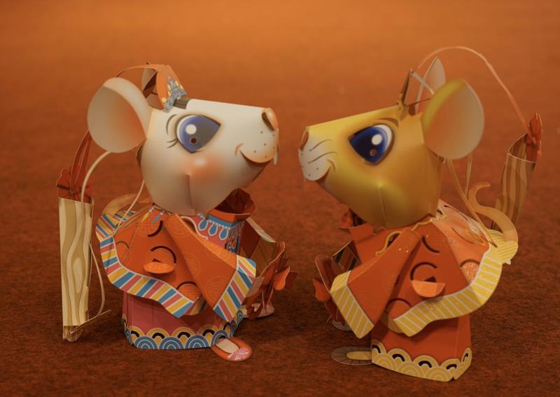 2020台灣燈會小提燈「吉利鼠與美力鼠」可愛亮相