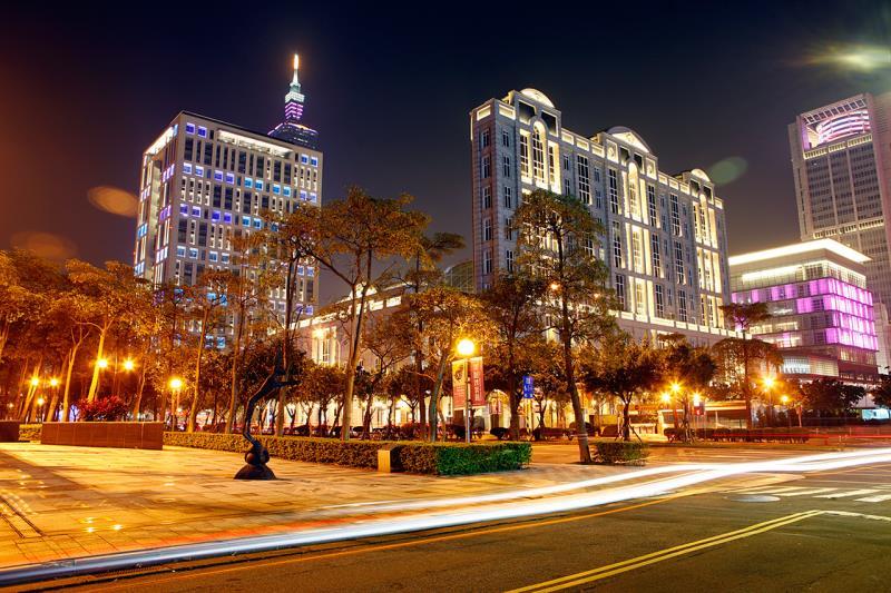 台北市信義區夜景