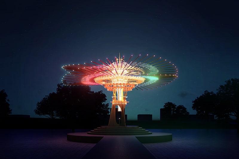 台灣燈會主燈「乘風逐光」