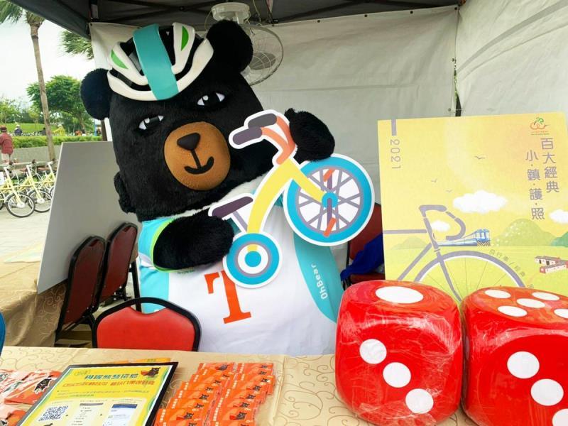 「與喔熊騎環島」活動,喔熊組長會到場與騎友互動。