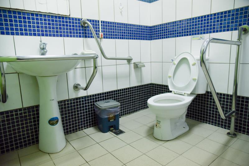 北埔國小無障礙廁所內部