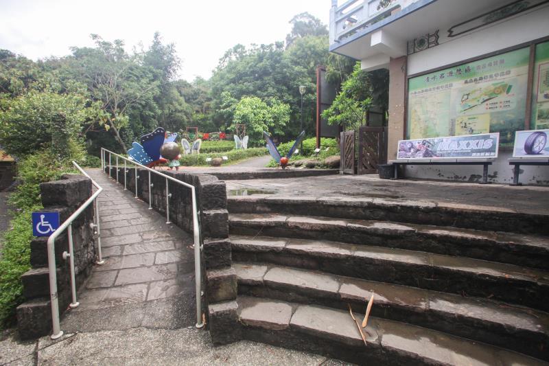 生態園區無障礙斜坡