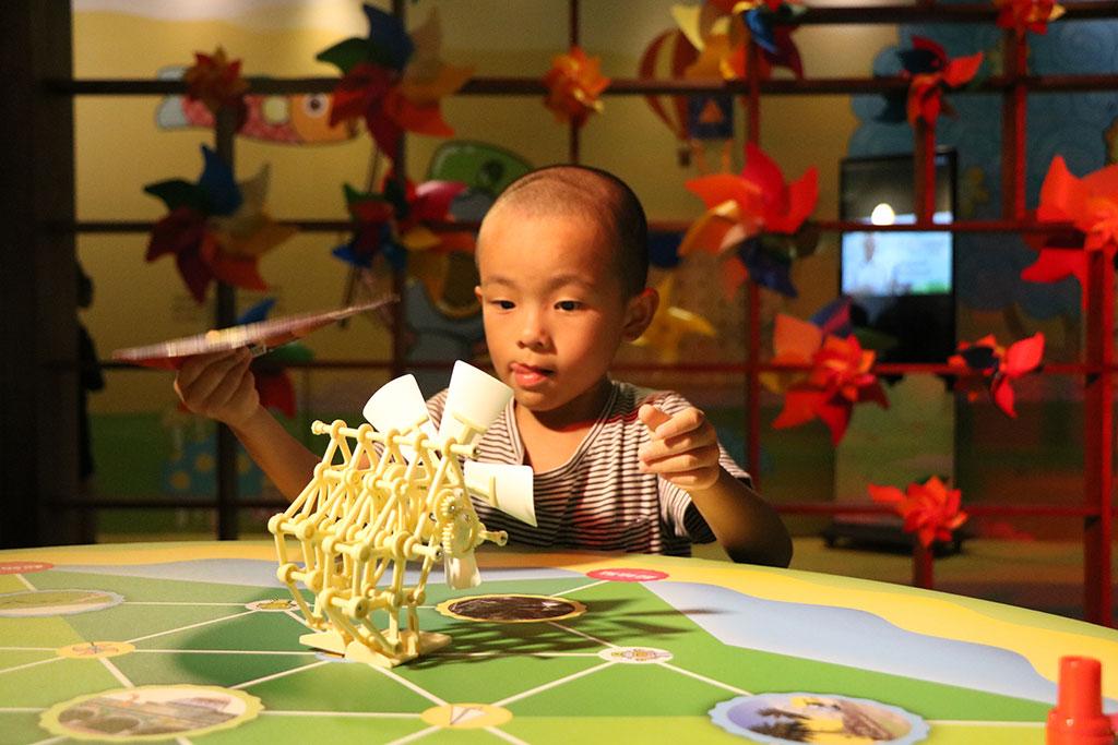 風童玩館互動展品  年度:2019  來源:宜蘭縣政府