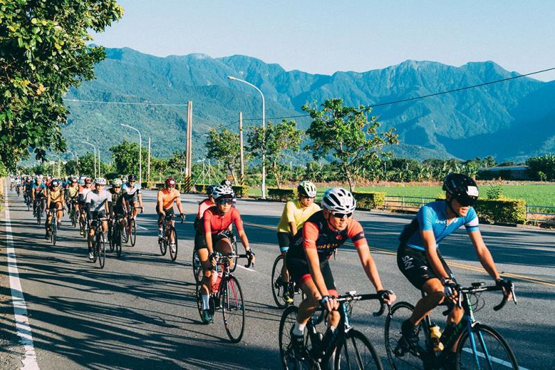 花東海灣盃自行車挑戰選手  來源:花東縱谷國家風景區管理處