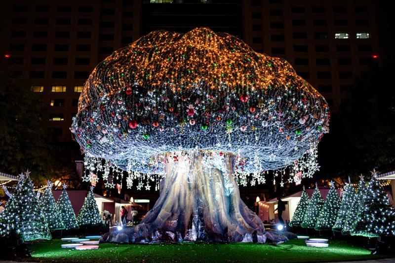 站前廣場「森林沐浴」裝置藝術  年度:2019  來源:新北市政府觀光旅遊局