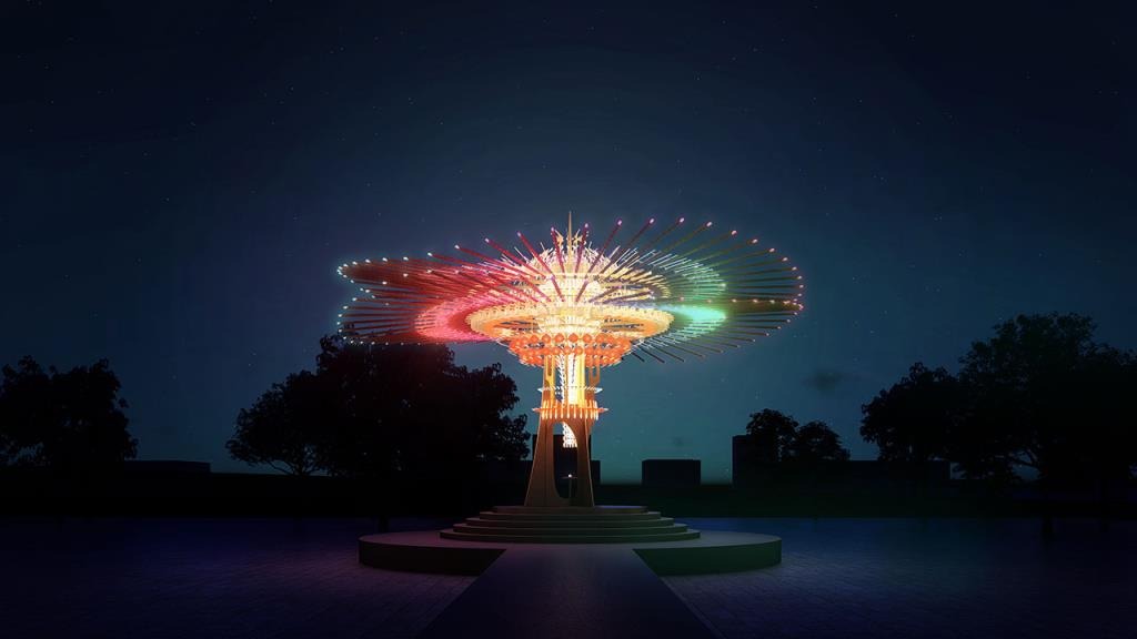 主燈「乘風逐光」模擬圖  年度:2021  來源:交通部觀光局