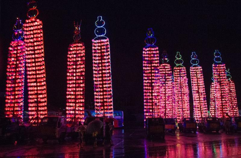 祭典-水燈排