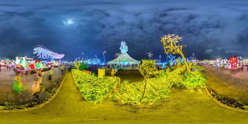 國際交流燈區-新住民藝術主燈「海之女神」  年度:2019  來源:交通部觀光局